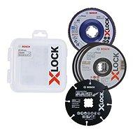 X-LOCK Sada řezných a lamelových brusných kotoučů 125mm - Sada řezných kotoučů