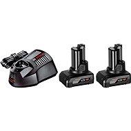 Bosch Starter set 2 x GBA 12V + GAL 1230 CV Professional - Nabíječka a náhradní baterie