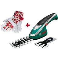 BOSCH ISIO + zahradnické rukavice - Nůžky na trávu