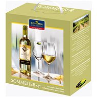 Bohemia Royal Crystal Sada sklenic na bílé víno 2 ks 390 ml + víno Sauvignon Blanc 750ml - Sklenice na studené nápoje