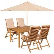 Fieldmann Calypso 4 with Umbrella - Cream - Garden furniture