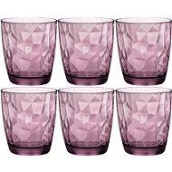 Bormioli Sklenice DIAMOND 300ml fialová, 6 ks - Sada sklenic