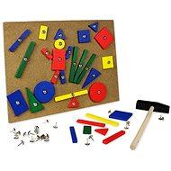 Kladívko s hřebíčky - dřevěné Kladívko s hřebíčky - Herní set
