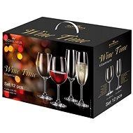 Bohemia Royal Crystal Wine time set 12 ks - Sada sklenic
