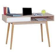 Psací stůl Brüxxi Samo 120 cm, Sonoma dub/bílý
