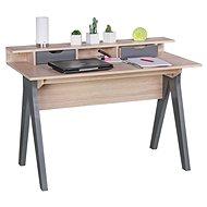 Psací stůl Brüxxi Samo 120 cm, Sonoma dub/šedý