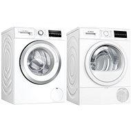 BOSCH WAU28T62BY + BOSCH WTR87TW1CS - Washer and dryer set