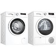 BOSCH WAN28162BY + BOSCH WTH85202BY - Washer and dryer set