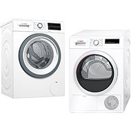 BOSCH WAT28480CS + BOSCH WTH85200BY - Washer and dryer set