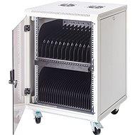 BScom regál pro 15 notebooků, 16x zásuvka 230V - Nabíjecí uložiště