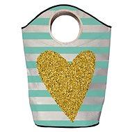 Butter Kings multifunkční pytel gold heart - Koš na prádlo