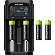 AlzaPower USB Battery Charger AP250B + Rechargeable HR6 (AA) 2500 mAh 4ks - Nabíječka baterií