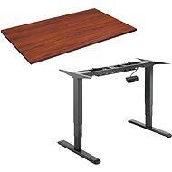 AlzaErgo Table ET1 NewGen černý + deska TTE-01 140x80cm hnědá dýha - Výškově nastavitelný stůl