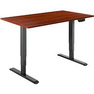 AlzaErgo Table ET1 NewGen černý + deska TTE-03 160x80cm hnědá dýha - Výškově nastavitelný stůl