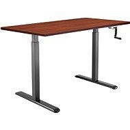 AlzaErgo Table ET3 černý + deska TTE-01 140x80cm hnědá dýha - Stůl