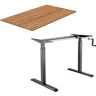 AlzaErgo Table ET3 černý + deska TTE-01 140x80cm bambusová - Stůl