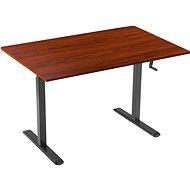 AlzaErgo Table ET3 černý + deska TTE-03 160x80cm hnědá dýha - Stůl