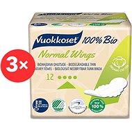 VUOKKOSET 100% BIO Normal Wings Thin 3 × 12 ks - Eko menstruační vložky