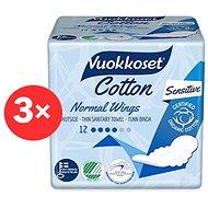 VUOKKOSET Cotton Normal Wings Thin 3 × 12 ks  - Eko menstruační vložky