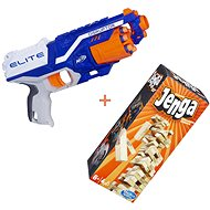 Nerf Elite Disruptor + Jenga - Dětská pistole