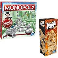 Monopoly nové CZ + Jenga - Společenská hra
