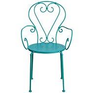 CENTURY Židle s područkami petrolejová - Zahradní židle