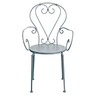 CENTURY Židle s područkami šedá - Zahradní židle