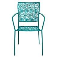 NANCY Židle s područkami petrolejová - Zahradní židle