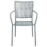 NANCY Židle s područkami šedá