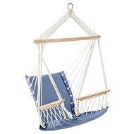 BABOON Závěsné křeslo s dřevěnými područkami modrá - Zahradní křeslo