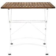PARKLIFE Skládací stůl 80x80 cm bílá/hnědá - Zahradní stůl
