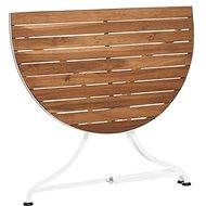 PARKLIFE Balkónový skládací stolek hnědá/bílá - Stolek