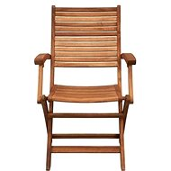 SOMERSET Skládací židle s područkami - Zahradní židle
