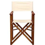HOLLYWOOD Režisérská židle krémová - Zahradní židle