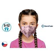 10x Český respirátor FFP2 vhodný pro děti - růžový pejsek