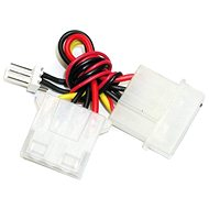 """Redukce napájení z 4 pin 5.25"""" konektoru [zdroj] na 3pin konektor [chladič] - Male - Redukce"""