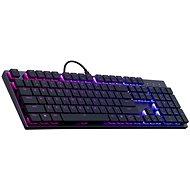 Cooler Master SK650, herní klávesnice, RED Switch, RGB LED, US layout, černá - Herní klávesnice
