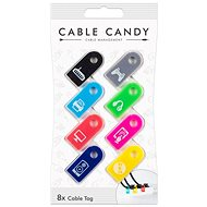 Cable Candy Tag 8-pack mixed colours - Cable Management