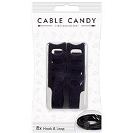Cable Candy Hook and Loop 8ks černý - Organizace kabelů