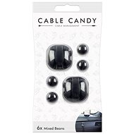 Cable Candy Mixed Beans 6-pack black - Cable Management