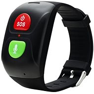 Canyon Smart SOS Bracelet for Seniors, Black - Smartwatch