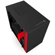 NZXT H200i matná černá/červená - Počítačová skříň