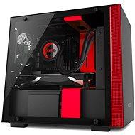 NZXT skříň H200 černo-červená - Počítačová skříň