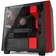 NZXT skříň H400 černo-červená - Počítačová skříň