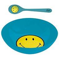 ZAK Snídaňový set SMILEY 17cm, modrý - Sada