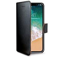 CELLY Wally pro iPhone X černé - Pouzdro na mobilní telefon