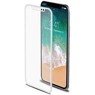 CELLY Glass pro iPhone X/XS bílé - Ochranné sklo