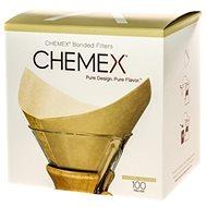 Chemex papírové filtry pro 6-10 šálků, čtvercové, přírodní, 100ks - Kávové filtry