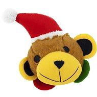 Akinu hračka plyš vánoční MÉĎA míček uvnitř 17cm - Hračka pro psy