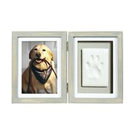 Pearhead Frame and Material for Paw Print in Grey - Print Set